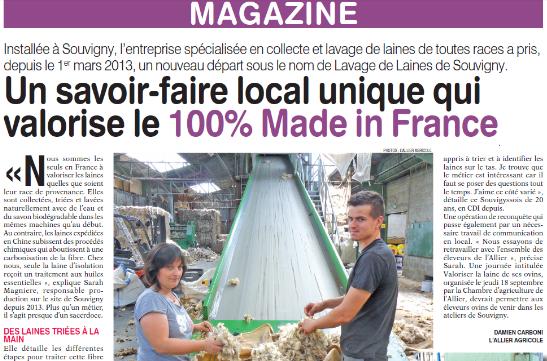 l u0026 39 allier agricole - lavage de laines de souvigny