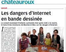 Article La Nouvelle Répubique – Internet en BD